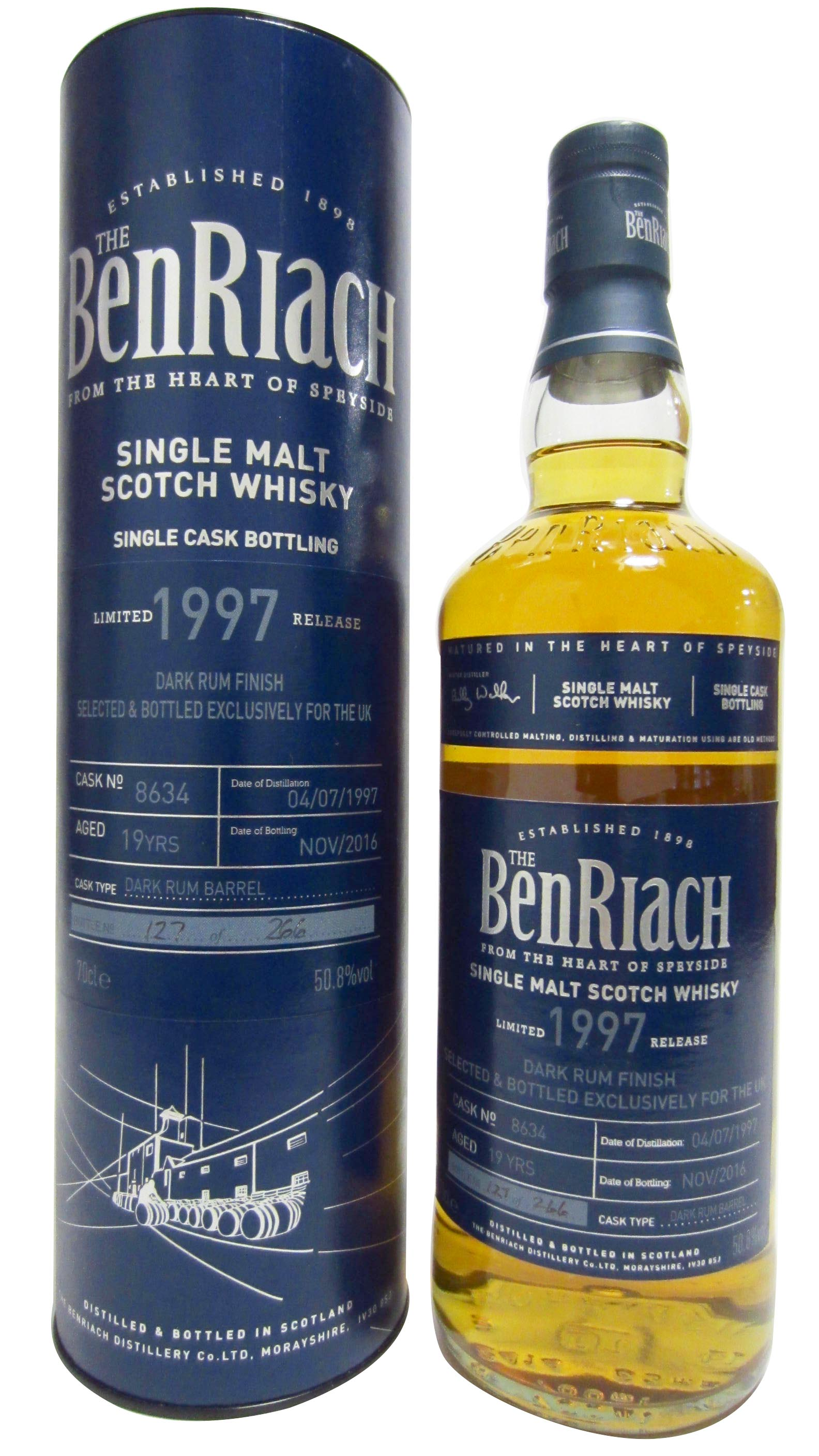 BenRiach - UK Exclusive Single Cask #8634 - 1997 19 year old