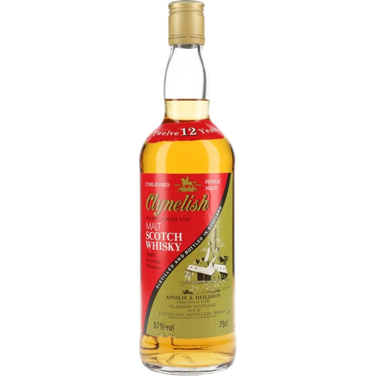 Clynelish 12 Year Old / Green & Red Label / Bot.1980s Highland Whisky